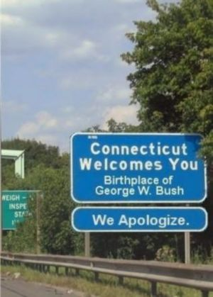 Bush connecticut welcome.jpg
