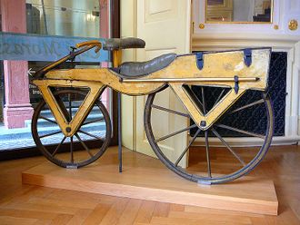 Draisine or Laufmaschine, around 1820 Archetype of the Bicycle Pic 01.jpg