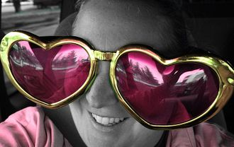 Free Smiling In Pink Heart Sunglasses.jpg